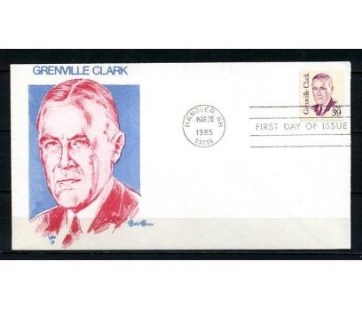 ABD 1985 FDC GRENVILLE CLARK SÜPER (230715)