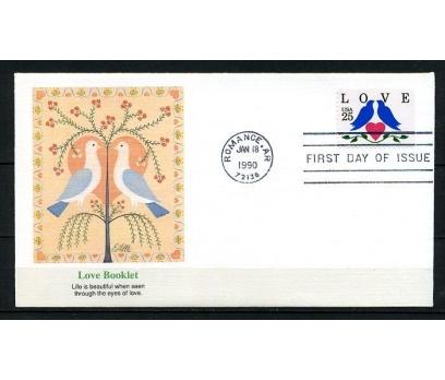 ABD 1990 FDC AŞK SÜPER (230715)