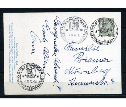 ALMANYA 1960 H.KART CHRISTMAS TEMALI (250715)