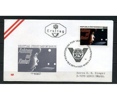 AVUSTURYA 1971 FDC TRAFİK GÜVENLİĞİ SÜPER (260715)