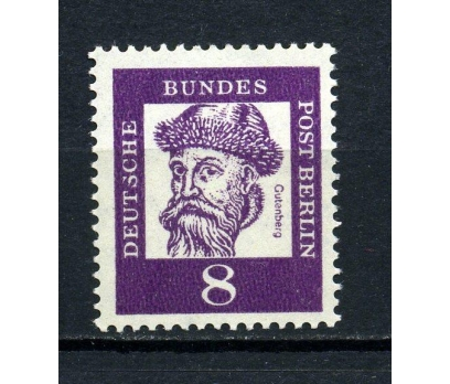 BERLİN ** 1961 GUTENBERG SERİNİN TEK V.(010815)