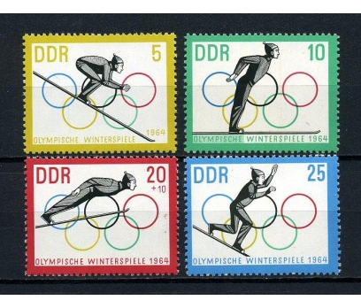 DDR ** 1963 INNSBRUCK KIŞ OLİMP. TAM SERİ (170715)