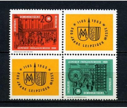 DDR ** 1964 LEİPZİG FUARI TAM SERİ SÜPER(170715)