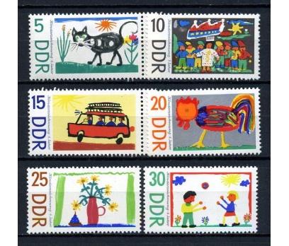 DDR ** 1967 ÇOCUK RESİMLERİ TAM SERİ (180715)