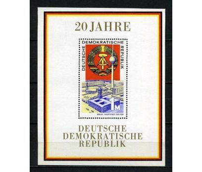 DDR ** 1969 DOĞU ALMANYA 20.YIL BLOK  (200715)