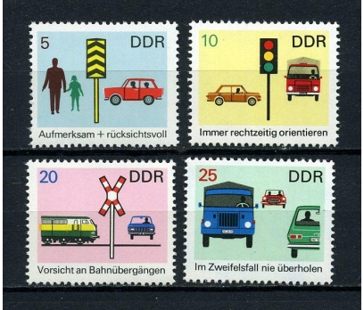 DDR ** 1969 YOL GÜVENLİĞİ TAM SERİ (190715)