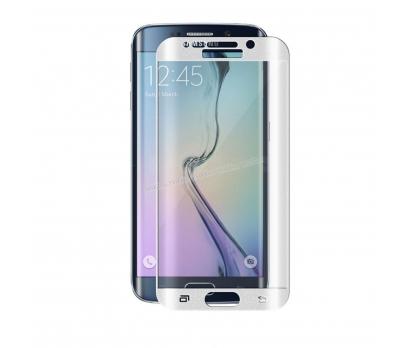 Galaxy S6 Edge CAM KAVİS KISMI DAHİL FULL KORUMA Beyaz