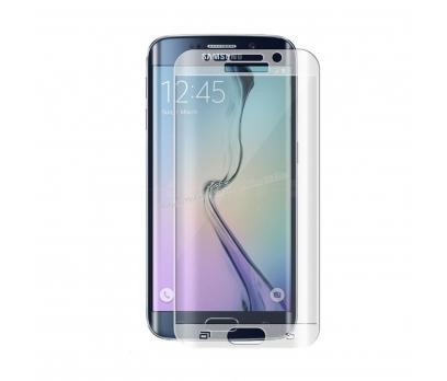 Galaxy S6 Edge CAM KAVİS KISMI DAHİL FULL KORUMA Şeffaf