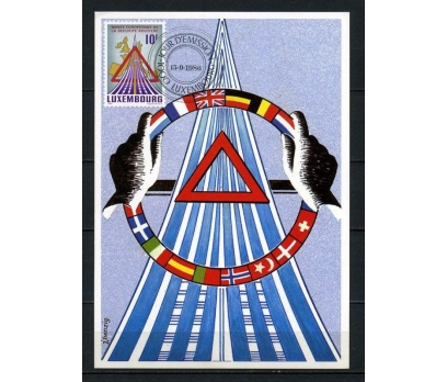 LUKSEMBURG 1986  MAKSİMUM KART TRAFİK TEM.(260715)