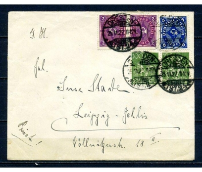 REİCH 1922 P.G.ZARF KLASİK PULLU SÜPER (280715)