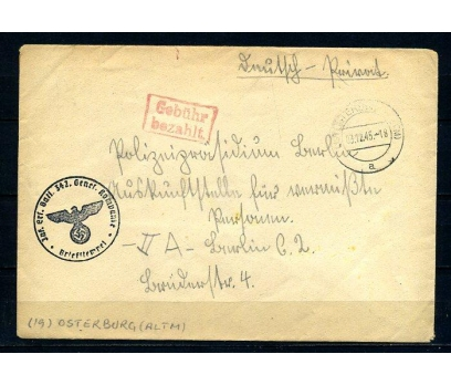 REİCH 1945 NAZİ DAMGALI POST.G.ZARF SÜPER (280715)