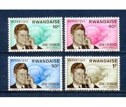 RUANDA ** 1965 KENNEDY 2.Ö.YILI 4 VALÖR (310715)