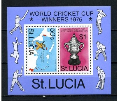 ST.LUCİA ** 1976 KRİKET KUPASI  BLOK (160715)