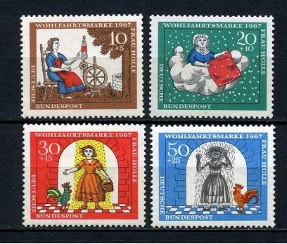 ALMANYA ** 1967 GRİMM MAS.IX TAM SERİ (030815)