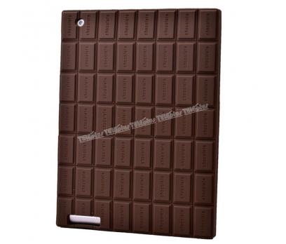 iPad 4 Çikolata Desenli Silikon Kılıf