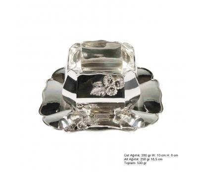 Amaryllis Desenli Gümüş Boller