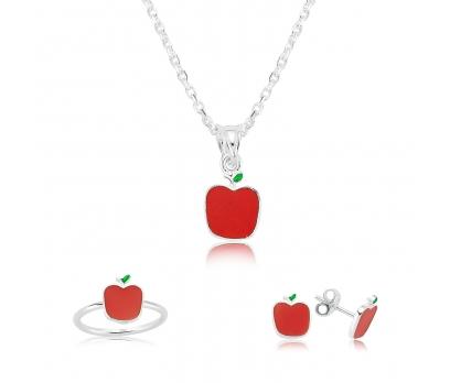 Gümüş Kırmızı Elma Çocuk Set