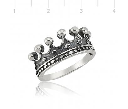 Gümüş Kral Tacı Bayan Yüzük