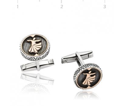 Gümüş Semazen Kol Düğmesi