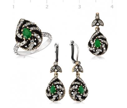 Gümüş Yeşil Otantik Bayan Set