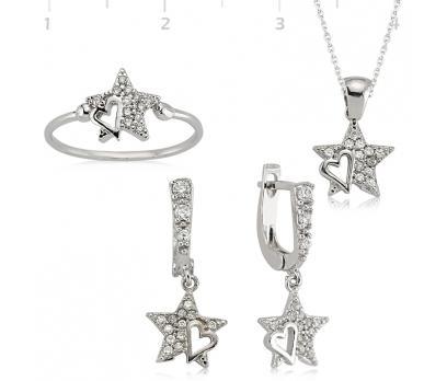 Gümüş Yıldız Bayan Set