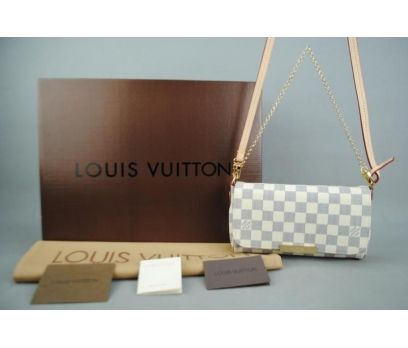 LOUIS VUITTON AZUR DAMİER FAVORİTE %100 DERİ