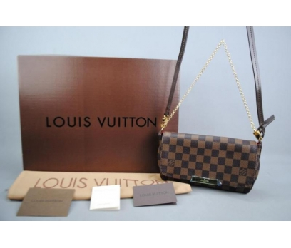 LOUIS VUITTON  DAMİER CANVAS FAVORİTE %100 DERİ