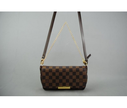 LOUIS VUITTON  DAMİER CANVAS FAVORİTE %100 DERİ 3 2x