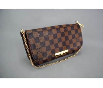 LOUIS VUITTON  DAMİER CANVAS FAVORİTE %100 DERİ 4 2x