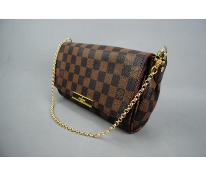 LOUIS VUITTON  DAMİER CANVAS FAVORİTE %100 DERİ 5 2x