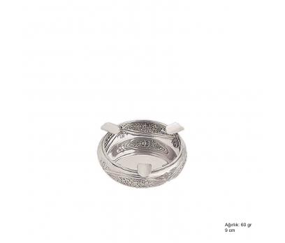 Papatya Desenli Gümüş Küllük