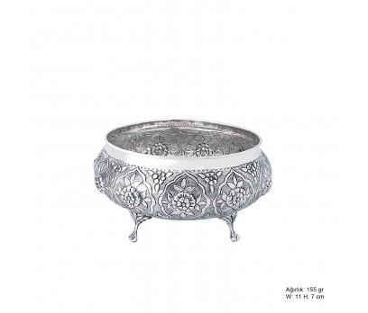 Papatya Desenli Gümüş Şekerlik