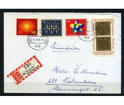 ALMANYA 1969 PGZ 4 TAM SERİ PULLA SÜPER (060915)