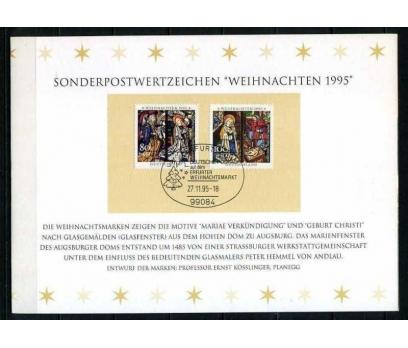 ALMANYA 1995 HATIRA KART CHRISTMAS SÜPER (060915)