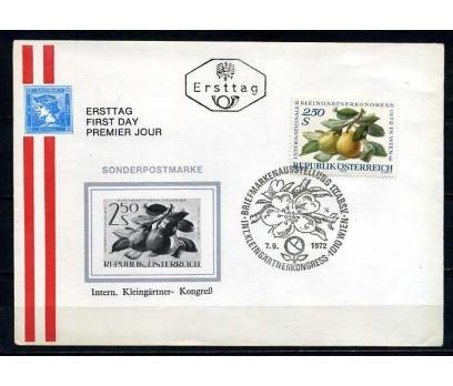 AVUSTURYA 1972 FDC MEYVELER SÜPER (020915)