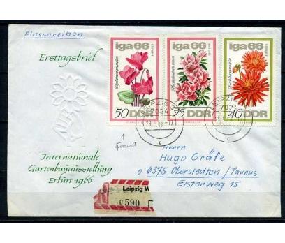 DDR PGZ 1966 ÇİÇEKLER  TEMATİK PULLU SÜPER(010915)