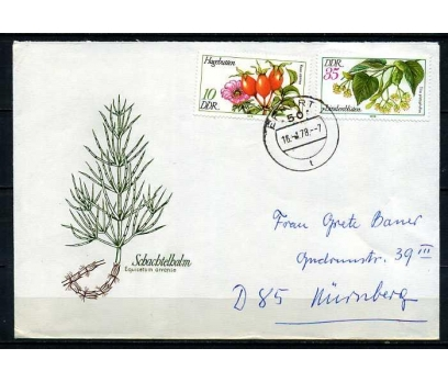 DDR PGZ 1978 KUŞBURNU TEMATİK PULLARLA (010915)