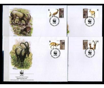 ERMENİSTAN1996 FDC WWF DAĞ KEÇİLERİ 4 ZARF(080915)