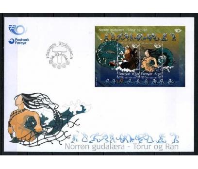 FAROE ADASI 2004 FDC MİTOLOJİ BLOK SÜPER (080915)