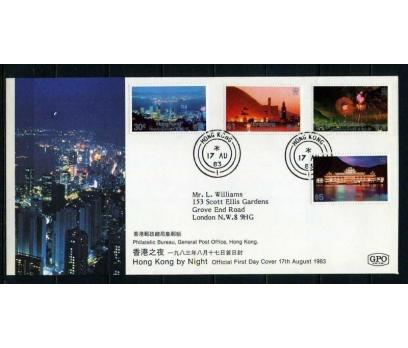HONG KONG 1983 FDC HONG KONG'DA GECE SÜPER(040915)