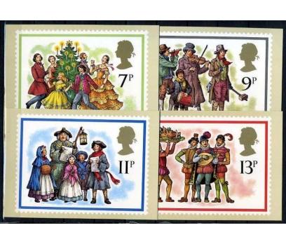 İNGİLTERE 1978 PUL KP CHRISTMAS 4 ADET  (060915)