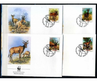 MOZAMBİK 1991 FDC WWF DAĞ KEÇİLERİ 4 ZARF (040915)