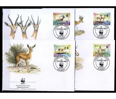 NİJER 1998 FDC WWF CEYLANLAR 4 ZARF (040915)