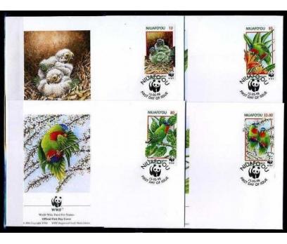 NİUAFO'OU 1998 FDC WWF PAPAĞANLAR 4 ZARF (040915)