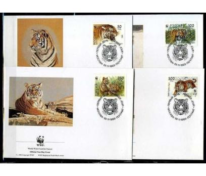 RUSYA 1993 FDC WWF KAPLANLAR 4 ZARF (040915)
