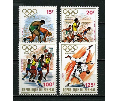 SENEGAL ** 1972 OLİMPİYATLAR TAM SERİ (080915)