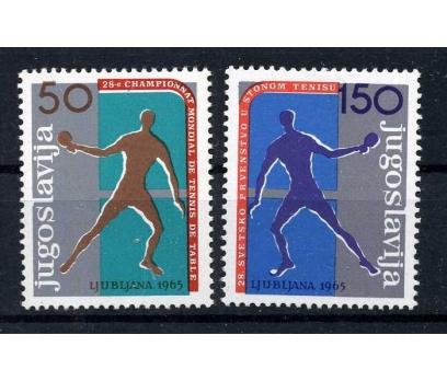 YUGOSLAVYA ** 1965 D.MASA TENİSİ Ş. TAM S.(110915)