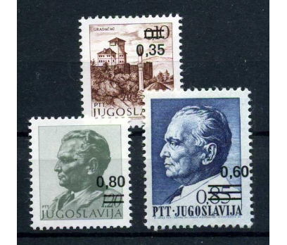 YUGOSLAVYA ** 1978 SÜRŞARJLI TAM SERİ(100915)