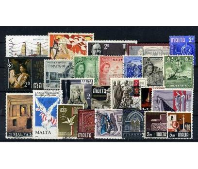 MALTA-2  DAMGALI 25 ÇEŞİT PUL SÜPER (150915)