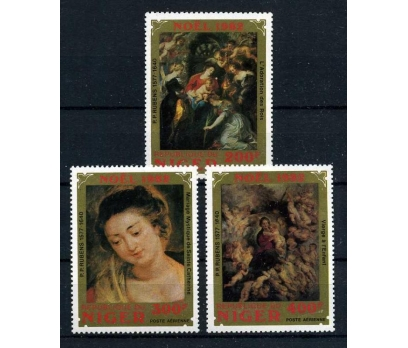 NİJER ** 1982 TABLOLAR & CHRISTMAS TAM S. (130915)